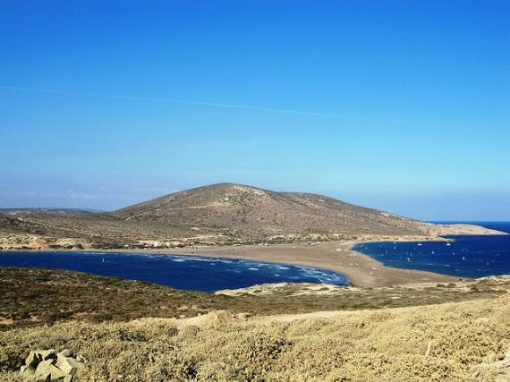 'Looking back from Prasonisi - Southern Tip of Rhodes' - Rodos